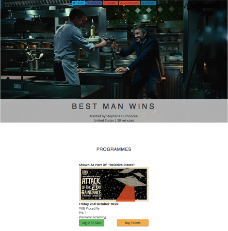 Best Man Wins Raindance London Stephane Dumonceau Luca Ciut